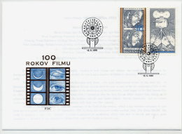 SLOVAKIA 1996 Centenary Of Cinema FDC With Stamp Ex Block.  Michel 252 - FDC
