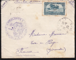 Maroc Du PA N° 2 Sur Lettre 1925 Mazagan FM - Cachets Infirmerie Ambulance Medecin Chef - Maroc (1891-1956)
