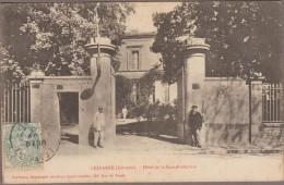 33-LESPARRE-Hôtel De La Sous-Préfecture  1906 Animé - Lesparre Medoc