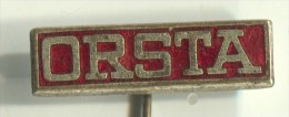 ORSTA - Germany, Hydraulik, Vintage Pin  Badge, Enamel - Merken