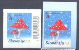 NEU NEW Issue Slovenia Slovenie Slowenien 2014: New Year 2015: 2 Stamps (booklet&sheet); Flora Mushrooms - Slowenien
