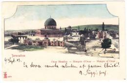 AK Jerusalem Omar Moschee Mit AK Stempel 25.9.1903 Mezerlen CH - Israel