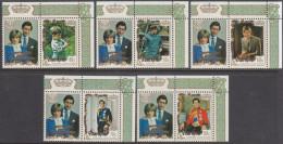 PENRHYN, 1981 ROYAL WEDDING 5 MNH - Penrhyn