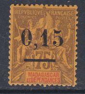 MADAGASCAR N° 54 X 0.15 Sur 75 C. Trace De Charnière Sinon TB - Madagascar (1889-1960)