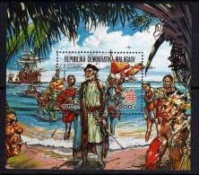 Madagascar  BF n� 40 XX  500�me anniversaire de la d�couverte de l�am�rique par C. Colomb,  le bloc sans charni�re