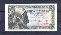EDIFIL D50 A.  5 PTAS 15 DE JUNIO DE 1945. - [ 3] 1936-1975: Franco