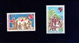 MADAGASCAR - 1974 - **/MNH - SCOUTS & RED CROSS - ROTES KREUZ - CROIX ROUGE - Mi 706/7