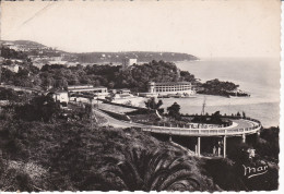 Monaco--Monte Carlo Beach----Fechador--1947-- Monaco--Pareja De Sellos-a, Paris,Francia - Mehransichten, Panoramakarten