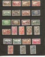 TIMBRES   De 1933  -  34 Gravés  N° 128*   à   149  Oblitéré - Unused Stamps