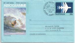 AUSTRALIE. Championnat Du Monde De Suf. Un Aérogramme De Sydney. - Aérogrammes
