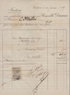 Gironde, Bordeaux, Vente De Vin Rouge C. Dumas 1889 - France