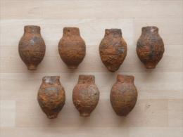 Lot De 7 Grenades FOUG CITRON 14-18 De Fouille - Decorative Weapons