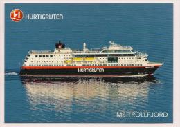 Norwegen - AK - Schiffe - Hurtigruten - MS Trollfjord Mit Sonderstempel Polarkreisquerung 27.Juni 2013 - Fähren