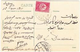 Türkei 20 Paras  28.5.1910 Halep 2 Auf AK Motiv Stadt Alep Bd. Bab-el-Faraj - Lettres & Documents
