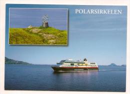 Norwegen - AK - Schiffe - Hurtigruten - MS Midnatsol / Polarkreiszeiche Mit Sonderstempel Polarkreisquerung 27.Juni 2013 - Fähren
