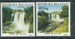 Madagascar n� 571 / 72  XX Tourisme : Chute de la Lily,  les 2 valeurs sans charni�re, TB