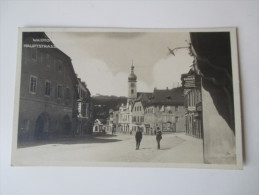 AK 1925. Österreich. Waidhofen A. D. Ybbs. Echtfoto. Hauptstrasse. Goldschmied Franz Kudrna. Tolle Karte - Waidhofen An Der Ybbs