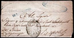 Montesarchio-00503g Piego Con Testo Del 1 Ottobre 1857 - - 1. ...-1850 Prefilatelia