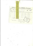 70 - Haute-saône - CEMBOING - Facture FRUITIERE DE CEMBOING – 1943 - REF 169 - France