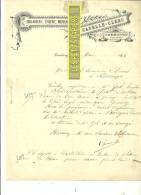 70 - Haute-saône - CEMBOING - Facture CANELLE-CLERC - Boulangerie, épicerie, Mercerie – 1898 - REF 169 - France