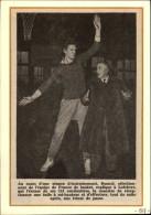 SPORTS - BASKET - Photo Article Tiré D´une Revue De 1957 Et Collé Sur Carton - Oude Documenten