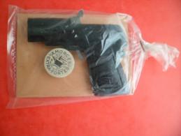 Jeux Jouet De Foire Pistolet Tole MAGENTA à Amorces Factice Conservé Neuf Années 1950 Carton Rose - Jouets Anciens