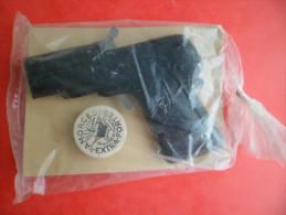 Jeux Jouet De Foire Pistolet Tole MAGENTA à Amorces Factice Conservé Neuf Années 1950 Carton Beige - Jouets Anciens