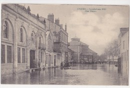 Inondations 1910 - Rue Thiers - Angers