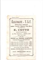 Buvard TSF Electricité TSF E. Cotto Constructeur 47, Rue Boulard à Parix XIV ème Buvard Relativement Rare - Buvards, Protège-cahiers Illustrés