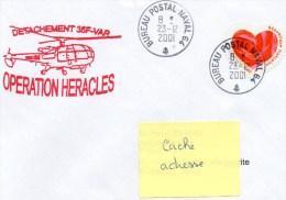 "PETROLIER "" VAR "" OPERATION HERACLES - DETACHEMENT 35 F - CAD BUREAU POSTAL NAVAL 64   23/12/2001 - Postmark Collection (Covers)"