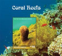 Antigua Barbuda-2014-Marine Life-Coral Reefs - Timbres