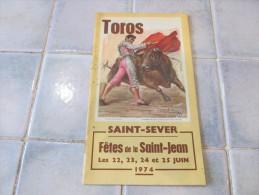 Programme Des Fetes De Saint Sever  1974 - Boeken, Tijdschriften, Stripverhalen