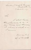 BONAPARTE LOUIS LUCIEN (1813 1891) NEVEU DE NAPOLEON 1 ER SENATEUR DU SECOND EMPIRE .PHILOLOGUE LETTRE A SIGNATURE - Autografi
