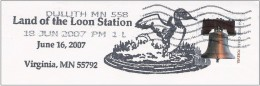 Land Of Loon,Duck, US Pictorial Cancellation On Genuinely Used Domestic Cover,2007 - Entenvögel