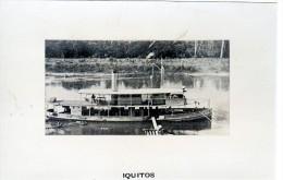 Batiment Militaire Marine Perou Canonniere Fluviale Sur Amazone Iquitos - Boats