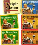 Etiquettes (label) De Biere  ( Beer, Cerveza, Birra, Bier) De Brasserie Belge St BERNARDUS - Birra