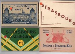 39737-ZE-67-Strasbourg-Lot De 4 Carnets Albums - Cartes Postales