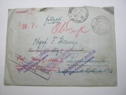1943, Feldpost Retourbrief Wahlstedt   München - Germany