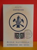 FDC Carte Maxi- École Nationale Supérieur Des Mines -  Paris - 11.4.1959 - 1er Jour, Coté 2,50 € - Maximumkarten