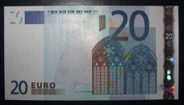 20 EURO R020A3 Draghi Netherlands Serie P Perfect UNC - EURO