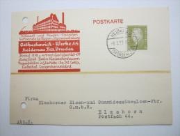 1933 , Perfore , Perforation , Lochung , Beleg Aus  Heidenau - Briefe U. Dokumente