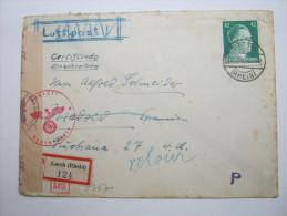 1944, Einschreiben Aus Lorch Nach  Spanien,  Retour - Deutschland