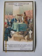 CHROMO CHOCOLAT CARPENTIER THE ROYAL Lith J. MINOT : DANTON CHAMBRE DES DEPUTES AUDACE.... AOUT 1792 - Otros