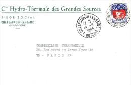 CHATEAUNEUF LES BAINS / PUY DE DOME / 1965 / N°678 - Marcophilie (Lettres)