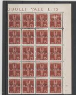 Ita GNR Mi.Nr. 37/ 4-er Block  Flugpost 1930-31, Bogenteil 20 Marken Vom Bogen - 1900-44 Victor Emmanuel III.
