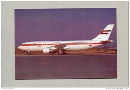 ..... POSTCARD AIRPLANE A300 UNITED ARAB EMIRATES