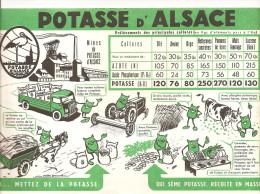 Buvard Potasse D'Alsace Oui, Mettez De La Potasse Qui Sème De La Potasse, Récolte En Masse - Agriculture
