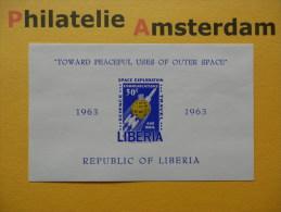 Liberia 1964, IMPERF / SPACE RUIMTEVAART ESPACE: Mi 622, Bl. 30, Type B, ** - Afrika