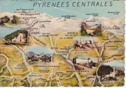 Francia--Bagneres De Luchon--1945--Cachet-Bagneres-a, Charente - Mapas