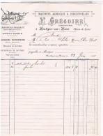 Factures     CHARRUES BRABANT V.GREGOIRE A MONTIGNESUR MOINE 1901 MAINE ET LOIRE......FAC46 - Petits Métiers